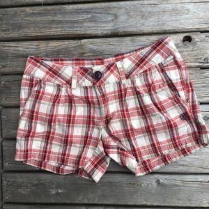 💥5/$25 Element Plaid Cotton Shorts